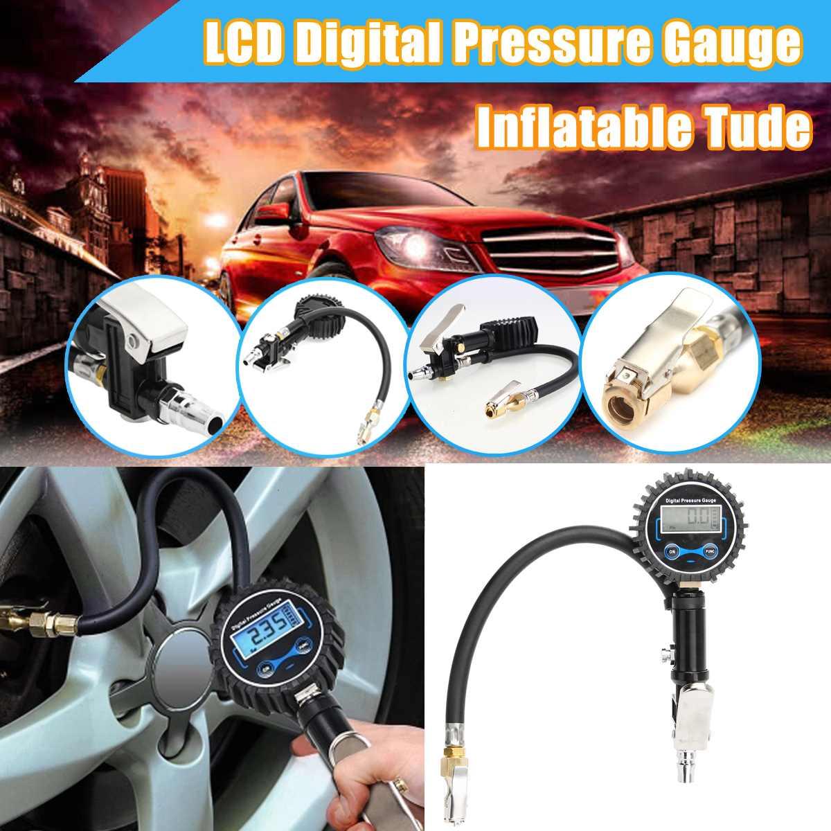 Digitale Auto Lkw Reifen Inflation für Pistolen Überwachung Werkzeug Air Reifen Druck Inflator Gauge LCD Display Dial Meter Fahrzeug Tester