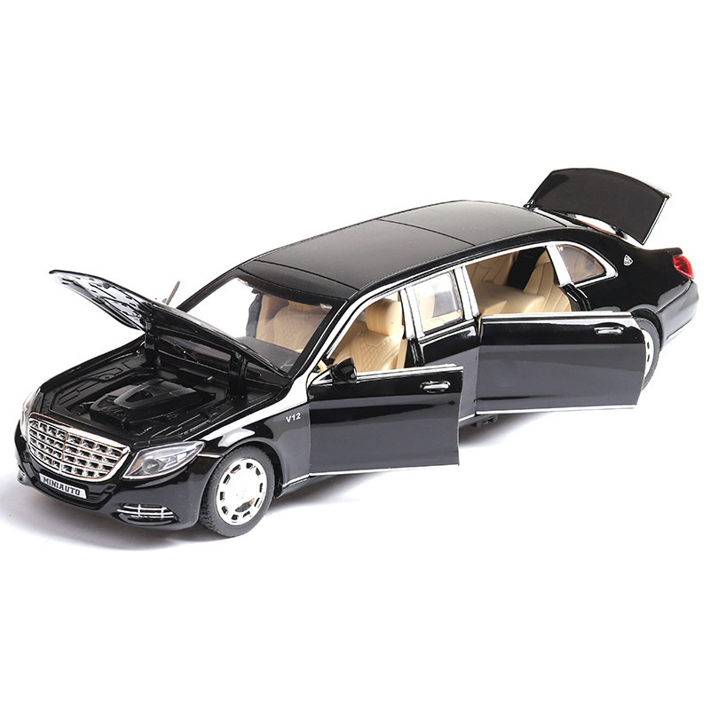 1/32 Diecast Metal Cars Model Lengthened S650 Alloy Model Cars Simulation Extended Edition Model Car Toy For Children Decoration