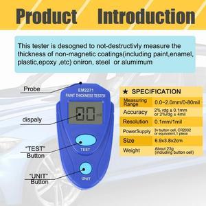 Image 3 - Przenośny mini cyfrowy przyrząd do malowania samochodu LCD przyrząd do pomiaru grubości Auto farba powłoka Film miernik grubości cynku narzędzia testowe