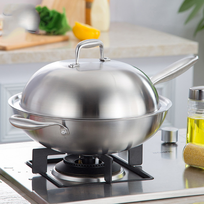 Durable Multipurpose Energy Saving Stainless Steel Frying Pan Cookware Kitchen Tools