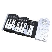 49 key speaker hand roll electronic piano portable folding electronic soft keyboard roll up the piano