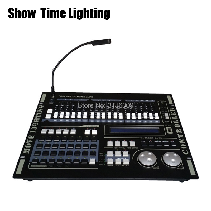 SHOW TIME Super Pro 512 DMX Controller Stage Light DMX Console For XLR-3 Led Par Beam Moving Head DJ Light Stage Effect Light