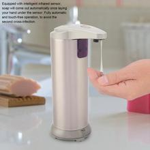 Automatic Liquid Soap Dispenser Stainless Steel Soap Sanitizer Container Touchless Dispenser Bathroom Hand Washing Liquid Bottle touch free stainless steel soap sanitizer dispenser silver 4 x aa 300ml