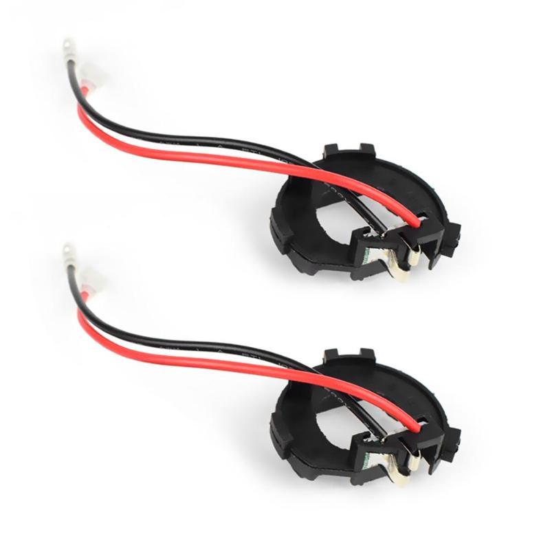 VODOOL 2Pcs Car LED Headlight Bulb Base Adapter H7 Headlamp Holder Socket Retainer Clip For VW Golf Jetta MK7 Mercedes-Benz Vito