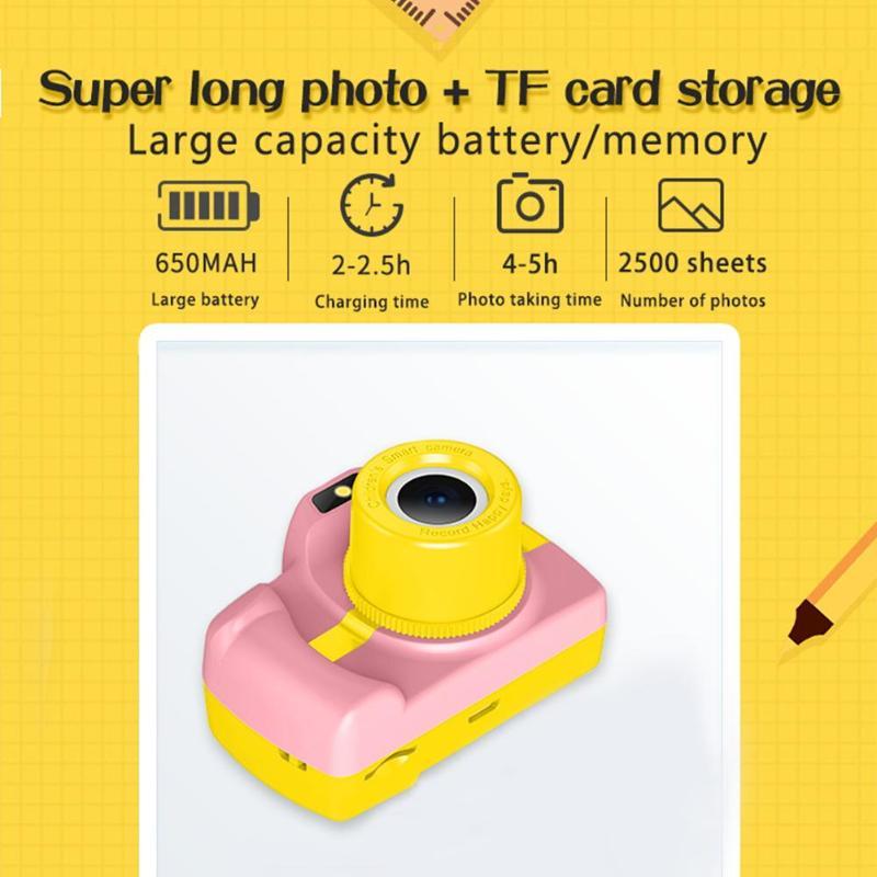1.5 pouces DSLR Mini caméra HD Portable appareil photo numérique pour enfants bébé mignon dessin animé multifonction jouet appareil photo enfants meilleur cadeau - 6