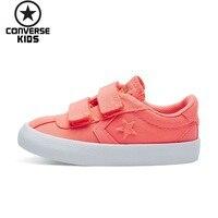 CONVERSE детская обувь фиолетовый магия субсидии для маленьких девочек низкая дышащая парусиновая обувь # 760052C S