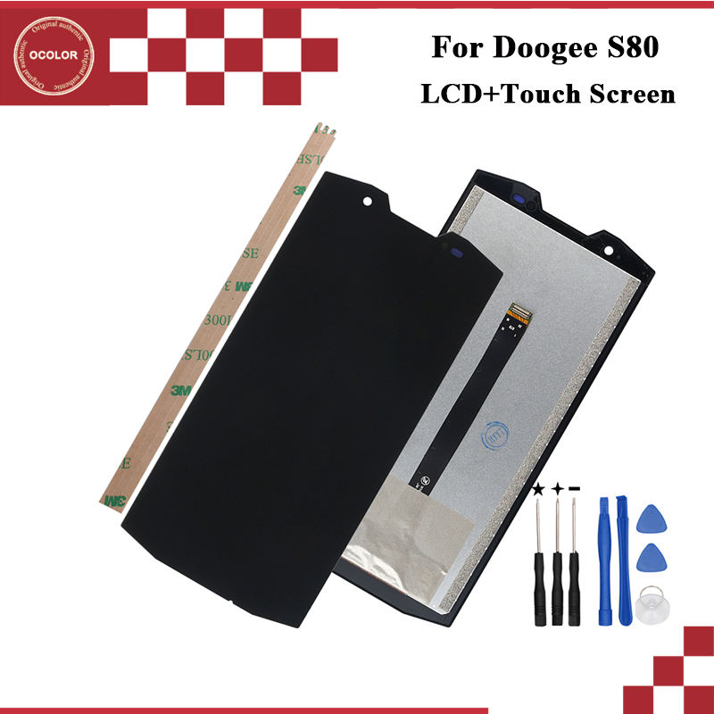 ocolor For Doogee S80 LCD Display and Touch Screen 5 99 inch Mobile Phone Accessories For
