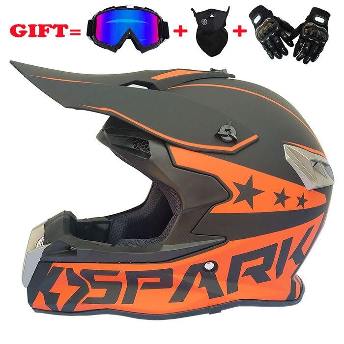 2018 Cross-country Helmet Speed Drop Helmet Locomotive Cross-country Helmet Four Seasons Motorcycle Helmet Goggles Mask Gloves