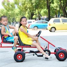 Pedal Go Kart Ride Kids Indoor and Outdoor Adjustable Go Kart M2 Seats Pedal Car Cart Children Car y Trike Car  two chilren kart недорго, оригинальная цена
