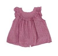 Baby Girls Sleeveless Dress Children Summer Cotton Dresses Vintage Loose Cute Dresses Kids Summer Clothes