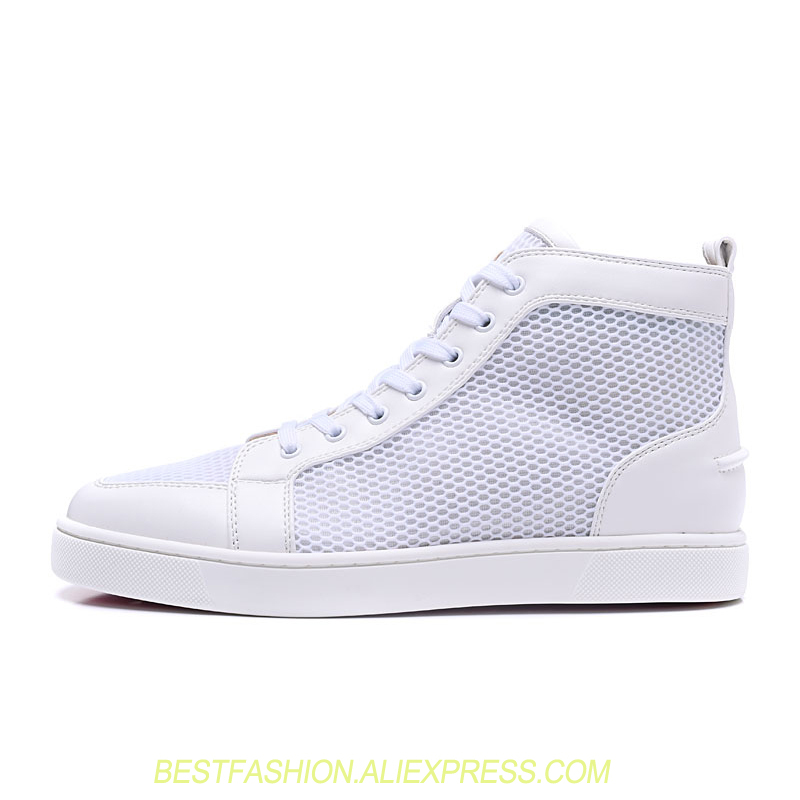 High Top Casual Shoe for Men breathable Mesh Summer Sneakers Outdoors trainers Lace Up Luxury Designers White Shoes MensHigh Top Casual Shoe for Men breathable Mesh Summer Sneakers Outdoors trainers Lace Up Luxury Designers White Shoes Mens