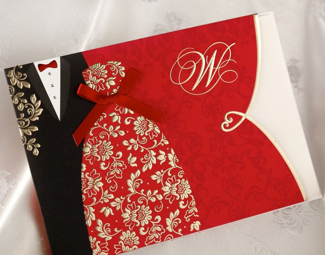 Us 1 23 5 Off 1pcs Traditional Chinese Style Red Wedding Invitations Cards Lot With Envelopes Black Tuxedo Dress Blank In