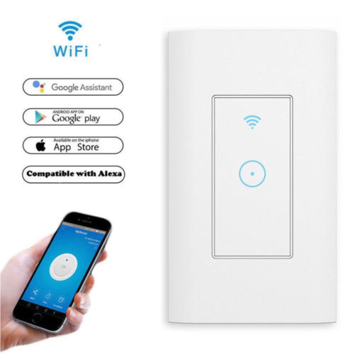 Wall-mounted Intelligent Wifi Remote Control Panel Switch For Use With Alexa And Google Home