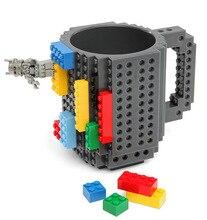 Interesting Block Cup DIY Coffee Mug Creative Office Water Cup Plastic Cartoon A Birthday Present Cartoon New Year Gift
