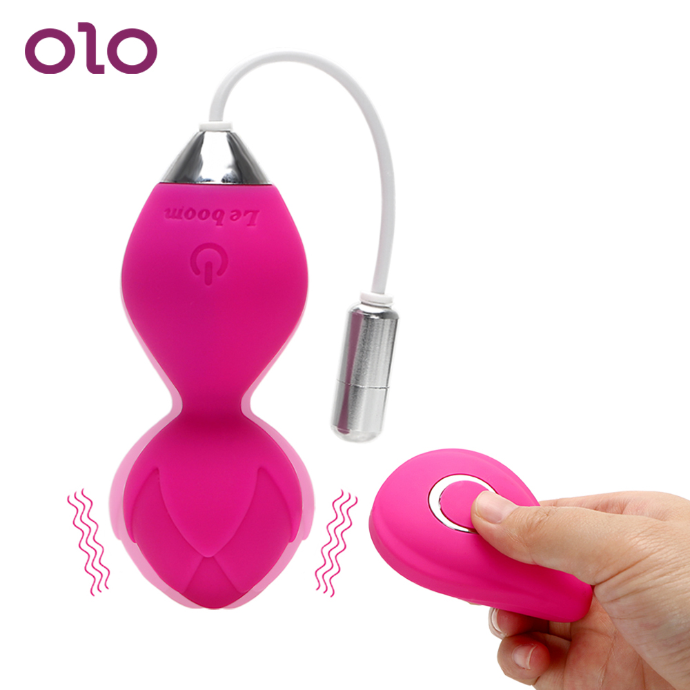 OLO Vibrator Kegel Ball Vibrating Egg Wireless Remote Control Exercise Vaginal Tightening Sex Toys For Women Clitoris Stimulator