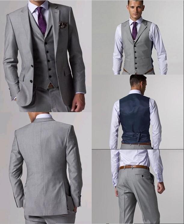 Mais recentes Modelos Casaco Calça Homens Terno Bege Prom Tuxedo Slim Fit 3 Peça Noivo Casamento Ternos Para Homens Blazer Personalizado terno Masuclino - 5