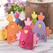 4pcs/lot Cute Chick Design Easter Egg Bags For Kids Eggs Holder Day Decor Ornament Gift 5 Colors Drop Shipping
