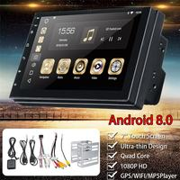 For Android 8.0 Car Multimedia Player FM Radio Stereo 2 DIN WIFI Bluetooth MP5 Player GPS Nav Quad Core Audio Video 7'' 1G+16G