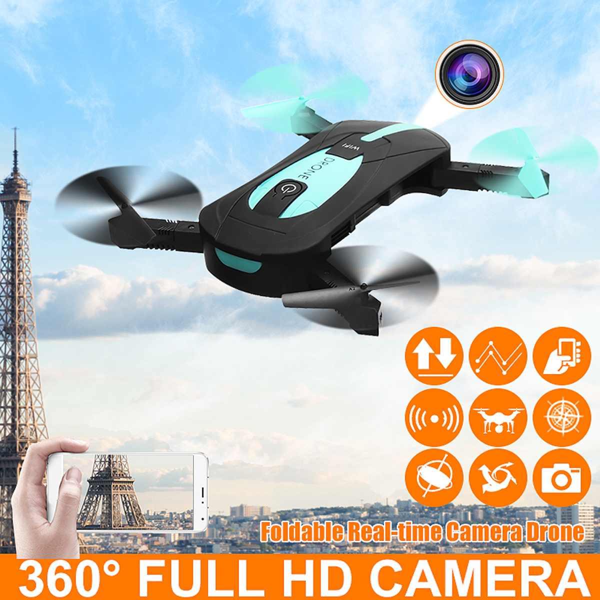 Jy018 Rc Drone With Full Hd Camera Mini Foldable Wifi Fpv