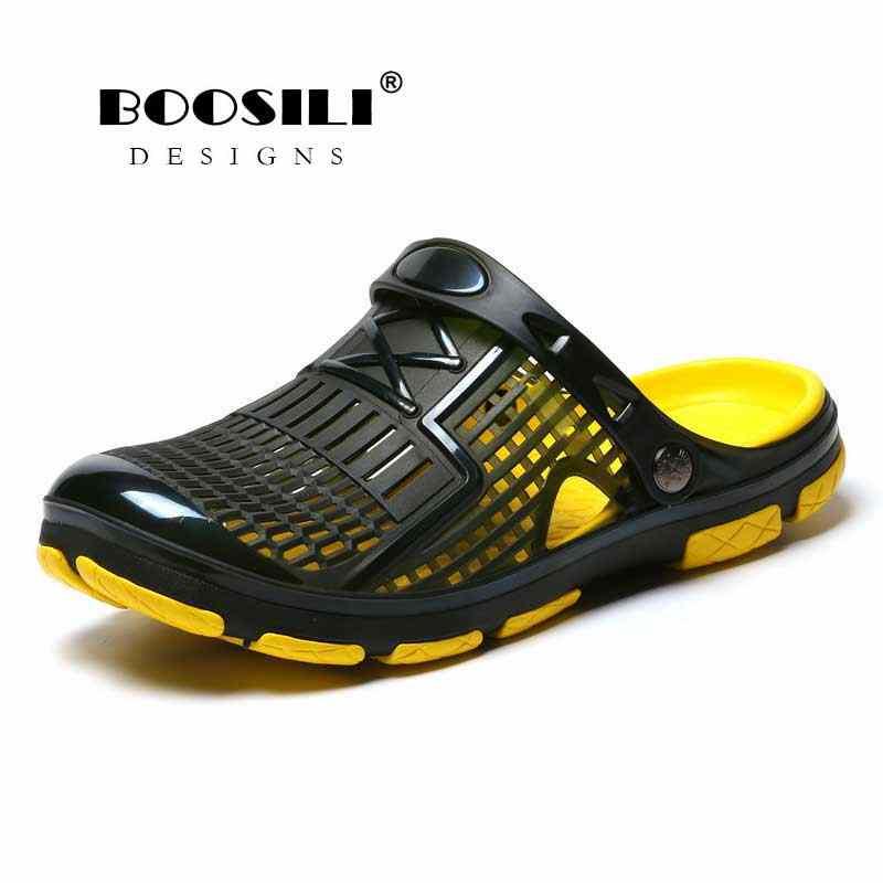 2020 del nuovo Mens Sandali Della Gelatina di Estate Eva Hollow Uomo Pantofole Scarpe Da Giardino di Modo Da Spiaggia Traspirante Illuminato Infradito Appartamenti di Acqua