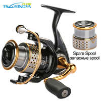 Tsurinoya 2000 Series Spinning Reel + One Metal Spare Spool Sea Fishing Reel 9BB Drag Power 6KG Carp Fishing Reel Wheel Tackles