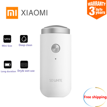 Xiaomi SO WHITE ED1 Mini Electric Shaver For Men Dry Wet Pocket Deep Clean Long Duration Shaving Machine From Youpin