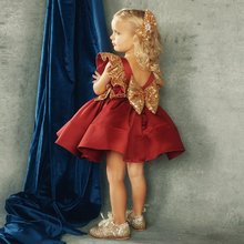 Christmas Toddler Kids Baby Girl Dress Princess Sequin Red T