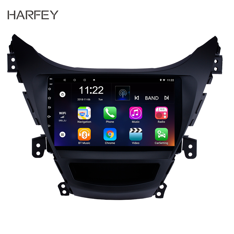 Harfey Android 8.1 Navigation System Bluetooth 9 For 2011 2012 2013 Hyundai Elantra With DVD Player TV car multimedia playerHarfey Android 8.1 Navigation System Bluetooth 9 For 2011 2012 2013 Hyundai Elantra With DVD Player TV car multimedia player