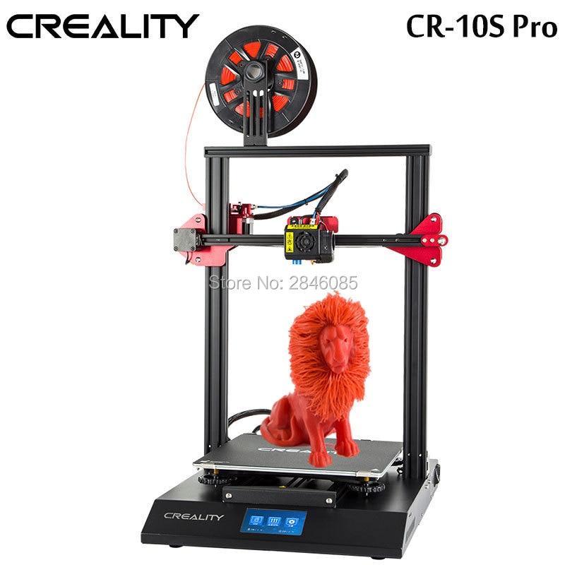 CRIATIVIDADE 3D CR-10S Pro Impressora de Nivelamento Automático Funtion Detecção De Toque LCD Dupla Impressão Filamento Extrusão Currículo