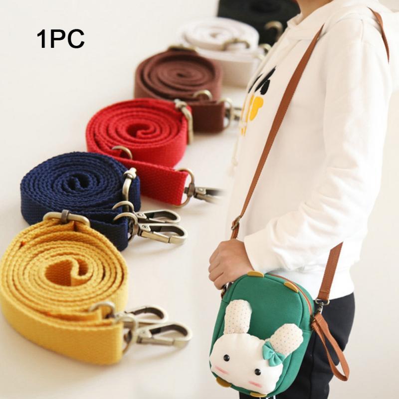 130cm Canvas Bag Strap Adjustable Shoulder Strap Fashion Bag Replacement Accessory 6 Colors Candy Color
