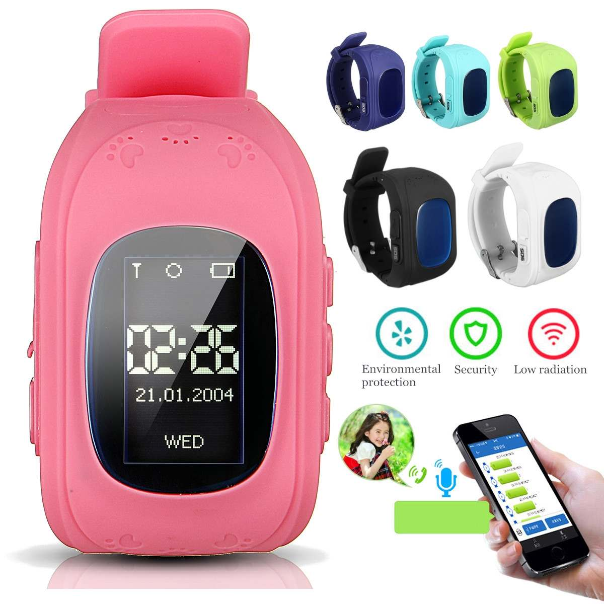 Wristwatch Kids Activity-Tracker Children Gifts 6-Colors Smart GPS Positioning Remote-Turn-Off