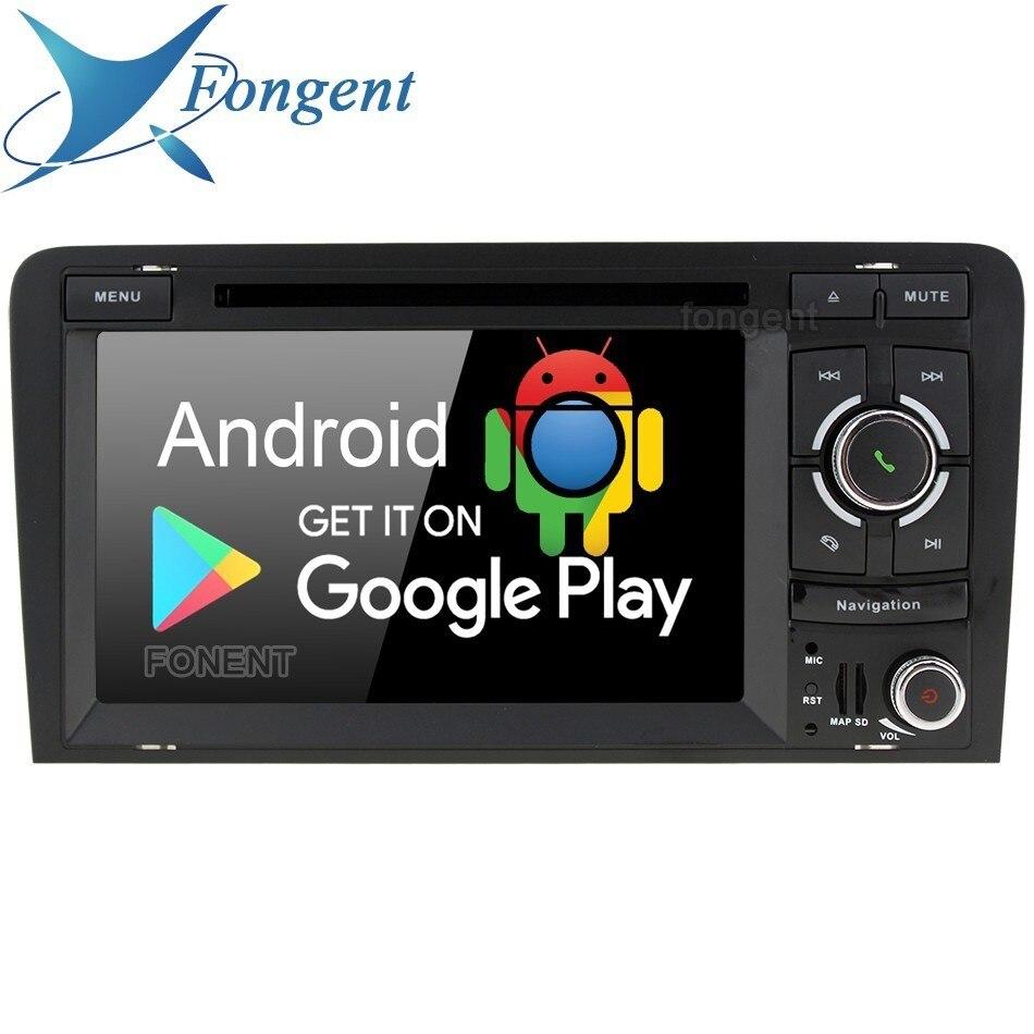Android 9.0 Auto Radio Multimédia Lecteur DVD GPS Navigator Unité pour Audi A3 S3 RS3 2003 2004 2005 2006 2007 2008 2009 2010 2011