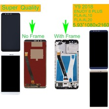 10Pcs/lot For Huawei Y9 2018 LCD FLA-AL00 FLA-AL10 FLA-AL20 Display Touch Screen Assembly With Frame ENJOY 8 PLUS
