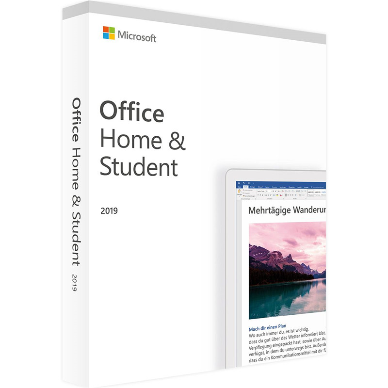 Microsoft Office Home and Student 2019 | 1 device, Windows 10 PC/Mac Product Key Card