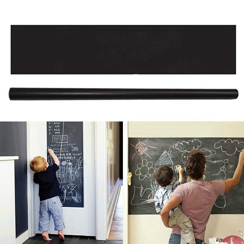 200*45cm Removable Blackboard Sticker Erasable Chalkboard Stickers Kids Room Vinyl Draw Decor Decals Office School Supplies