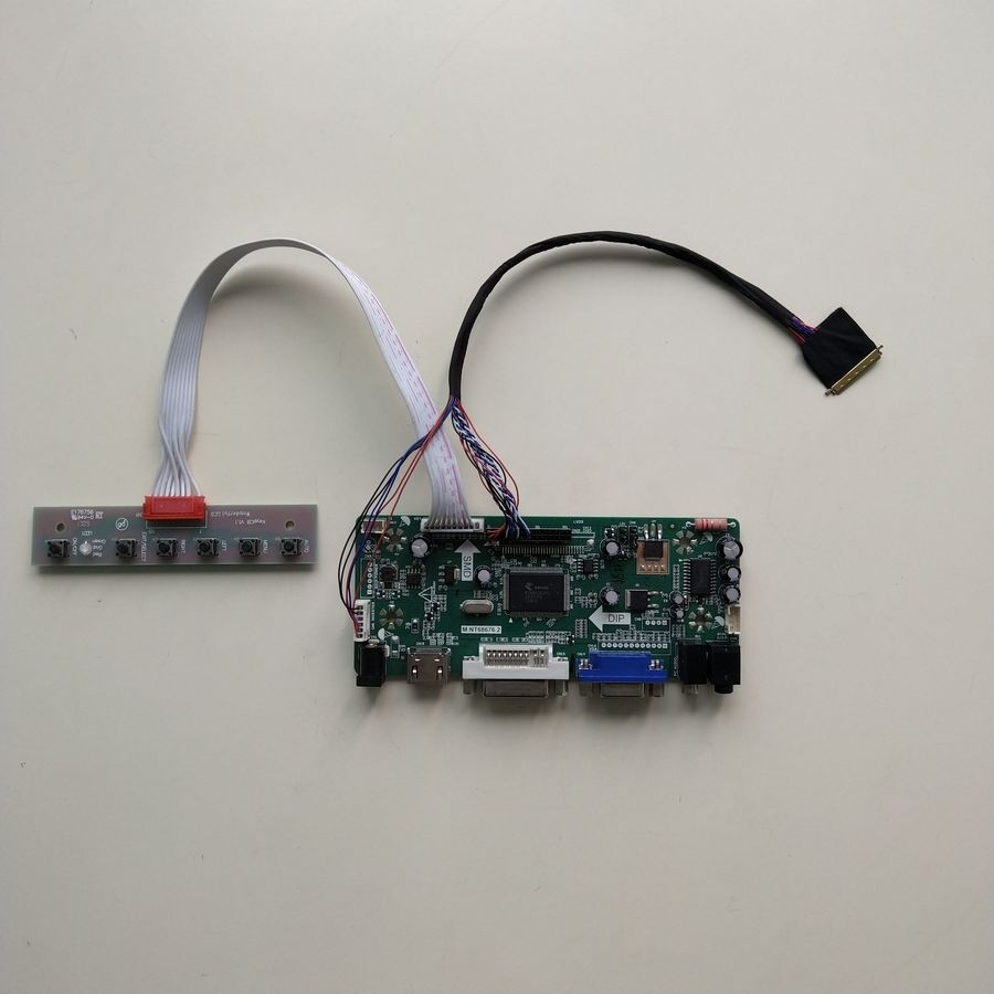 m.nt68676 Controller Driver Board Kit Pleasant To The Palate hdmi+dvi+vga Popular Brand For Ltn156at02-d09 1366*768 60hz Wled Lvds 15.6 Inch 40 Pin Laptop Lcd Panel