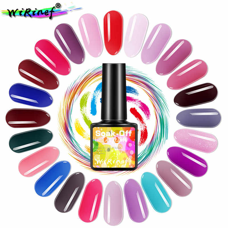 WiRinef 8 ml Série Cor Pura Semi-Permanente de Gel Unha Polonês Cola Prego Soak Off Gel UV LED Para DIY Da Arte Do Prego