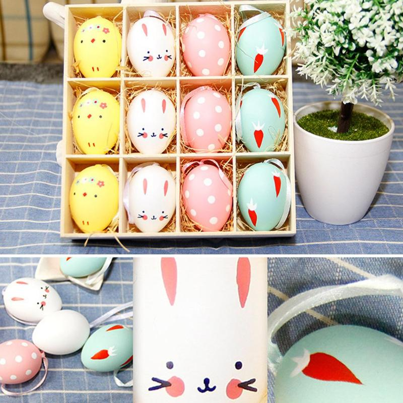 3pcs DIY Easter Decor Simulation Eggs Modelling Styrofoam Foam Easter Eggs Ball Hang Craft Egg For Children Educational Toys