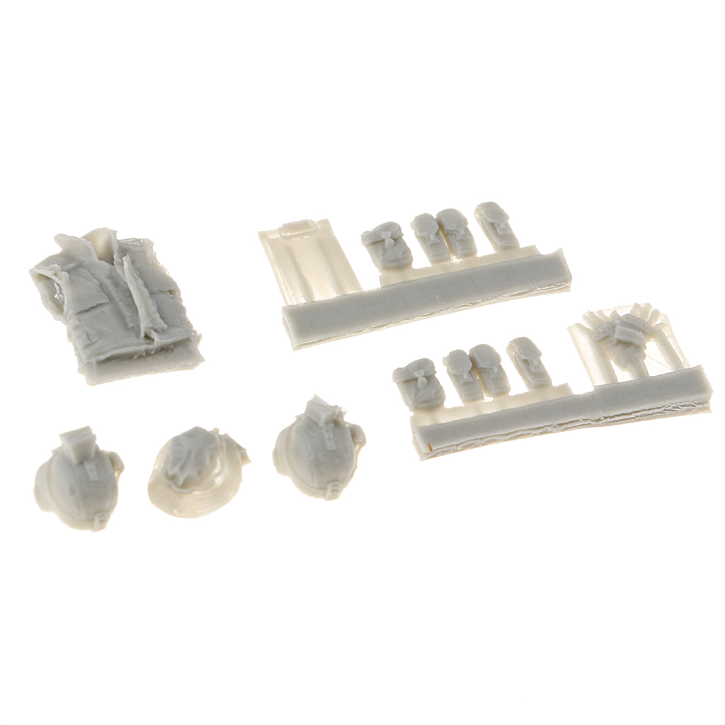 <font><b>1/35</b></font> <font><b>Resin</b></font> World War II Scenario <font><b>Accessories</b></font> Soldier Supply Armor Cap Gloves Set image