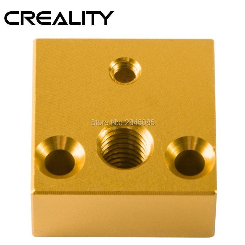 Детали для 3D-принтера 2 шт./лот, алюминиевый тепловой блок Makerbot MK7 или MK8, экструдер 20*20*10 мм для комплекта 3D-принтера Creality