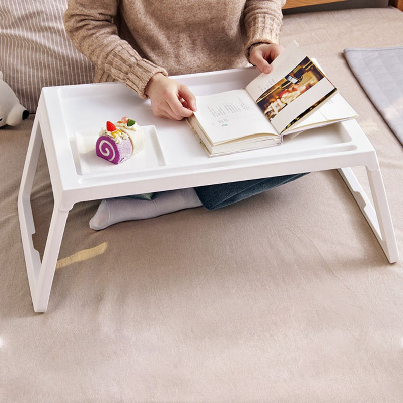 Portable Foldable Folding Laptop Table Notebook Desk Sofa Bed Laptop Table for Eating Studying on Sofa Bed with Folding Legs D(China)