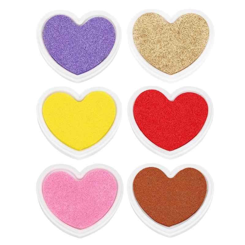 Candy สีลายนิ้วมือหมึก Pad สำหรับ DIY สมุดภาพกระดาษการ์ดหัตถกรรมกระดาษแสตมป์ CRAFT งานแต่งงานตกแต่ง Ink Pad