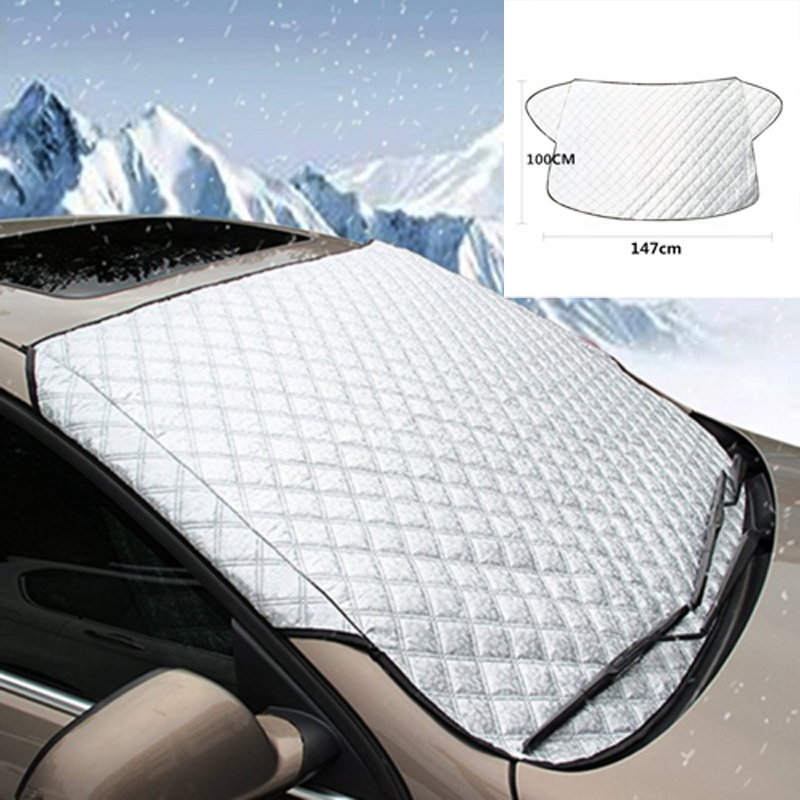 Portable Car Screen Windshield Anti Snow Frost Ice Dust Shield Sun Shade Cover