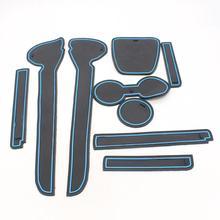 Dongzhen автомобильные Нескользящие внутренние подставки под стакан двери коврики чашки наклейки чехлы подходят для Фольксваген Поло 2011-2016 кремния 9 шт