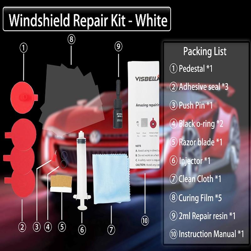 Image 5 - VISBELLA Windshield Repair Kit Car Window Repair Polishing Windscreen Glass Renewal Tool Auto Scratch Chip Crack Restore Fix DIY-in Fillers, Adhesives & Sealants from Automobiles & Motorcycles