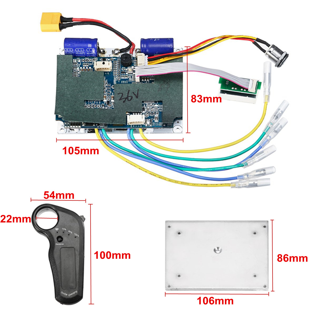 24/36 V Double ceinture moteur électrique planche à roulettes contrôleur Longboard ESC pièces de rechange Scooter carte mère Instrument outils - 2