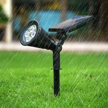 цена на Solar lawn lamp outdoor garden light IP65  led solar view lamp spot light warm white Color