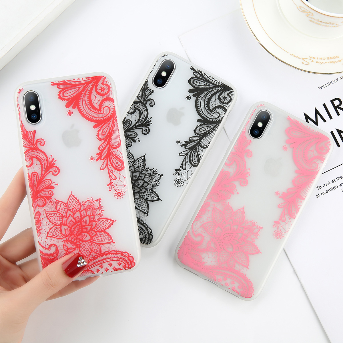 Fashion Phone Case Cover For iPhone 7 6 6s 8 X Plus 5 5s SE XR XS Max Cases Night Noctilucent Flower Soft TPU Case Back Cover in Fitted Cases from Cellphones Telecommunications