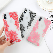 Fashion Phone Case Cover For iPhone 7 6 6s 8 X Plus 5 5s SE XR XS Max Cases Night Noctilucent Flower Soft TPU Case Back Cover noctilucent protective tpu case for iphone 5 5s green red