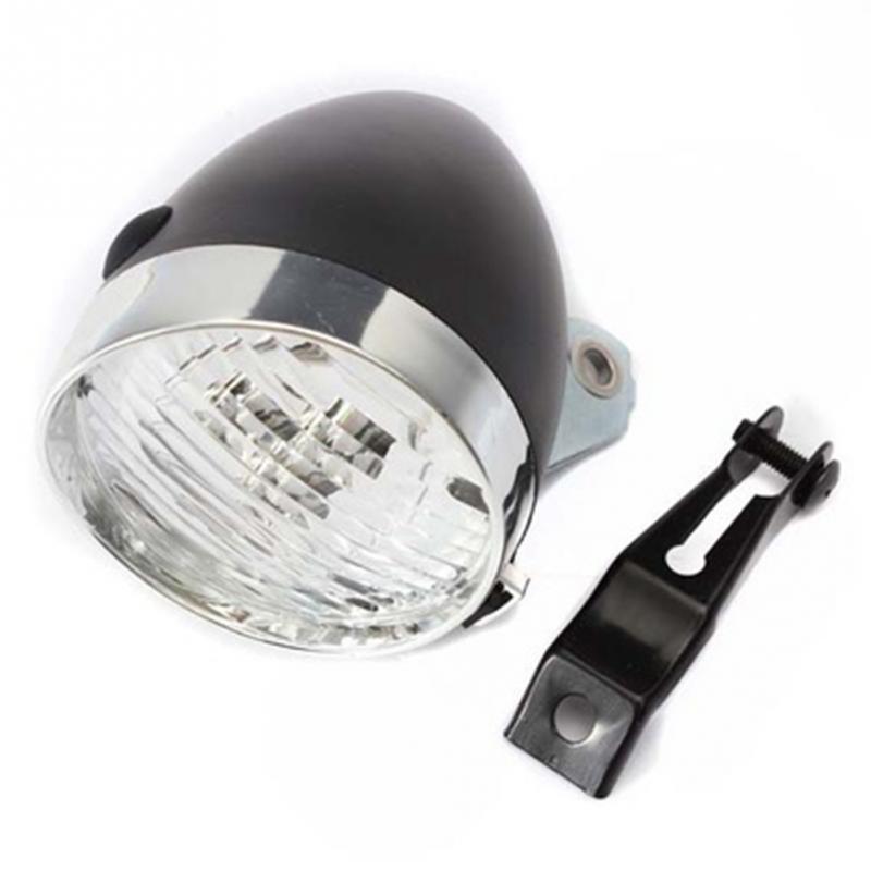 Retro Bicycle Bike 3 LED Front Light Headlight Vintage Flashlight Lamp Bicycle Headlight With Bracket